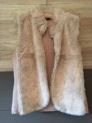 Gina Knitted Vest beige-oatmeal
