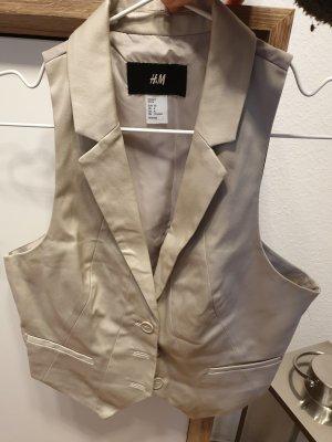 H&M Omkeerbaar vest licht beige
