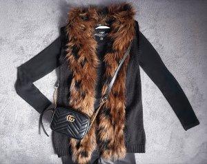H&M Fake Fur Vest multicolored mixture fibre
