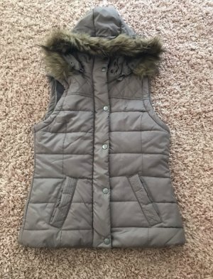 Hooded Vest grey brown