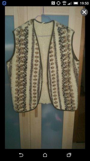 Vest bruin-licht beige