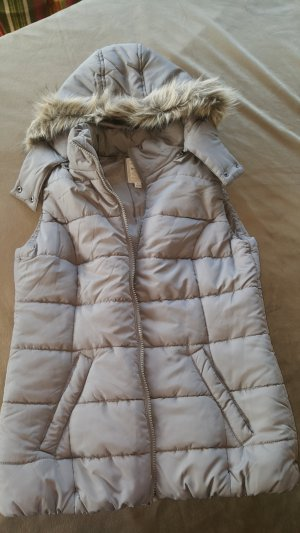 Blue Motion Quilted Gilet grey