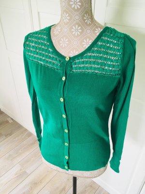 Ashley Brooke Smanicato lavorato a maglia verde bosco