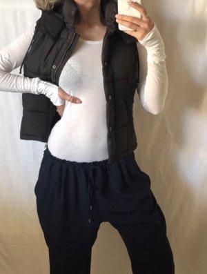H&M Veste matelassée noir-marron clair