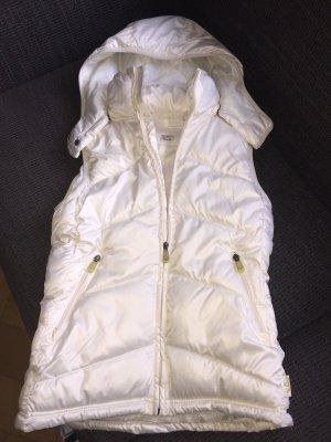 H&M Sport Hooded Vest natural white