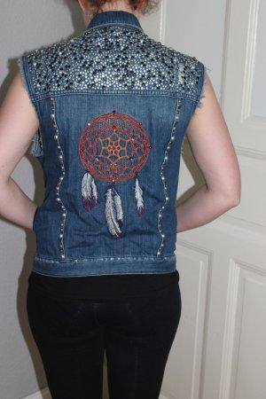 Weste Hippie traumfänger jeansweste Kutte topshop