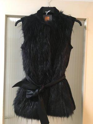 HUGO Hugo Boss Smanicato di pelliccia nero