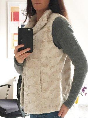 Lisa Tossa Smanicato di pelliccia crema