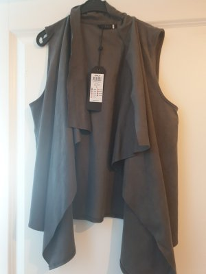 Only Leather Vest grey