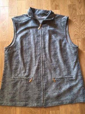 Leather Vest sage green-petrol