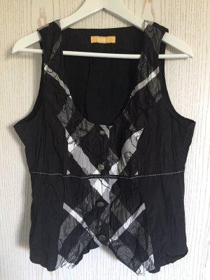 Biba Vest black-white