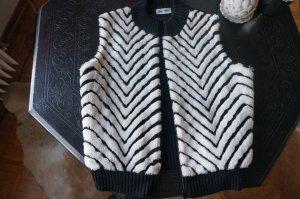 Weste in Streifenlook Fake Fur