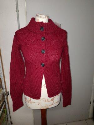 Weste in Strick von H&M für kältere Tage in tollem Rot