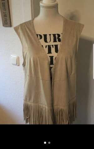 Cecil Fringed Vest oatmeal