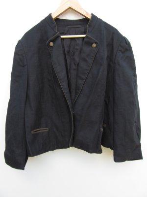 Weste Jacke Blazer Tracht Vintage Retro Gr. 50/52 schwarz