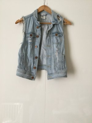 H&M Denim Vest azure-light blue