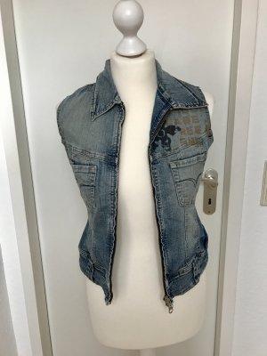 Weste * Jeans * Freesoul * S * Print