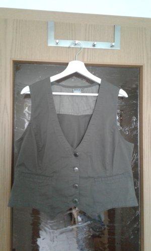 Denim Vest grey brown-khaki