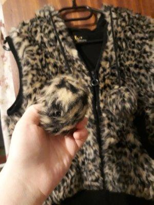 Weste Kunstfell leopard