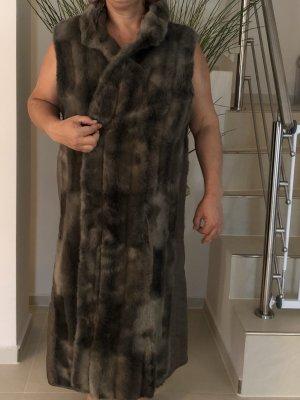 Smanicato di pelliccia antracite-grigio scuro