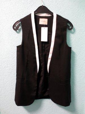 Gilet noir-blanc
