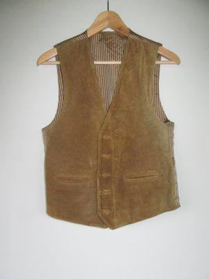 Weste Leder Tracht gestreift Vintage Retro