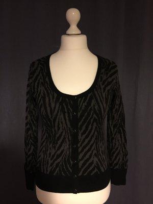 Weste Leoparden-Muster schwarz/grau