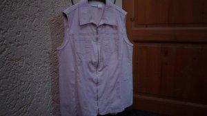 Gilet en jean vieux rose coton