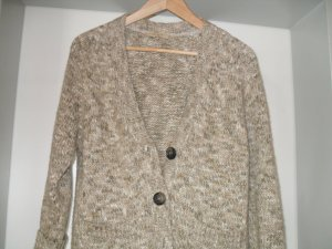Coarse Knitted Jacket sage green-natural white