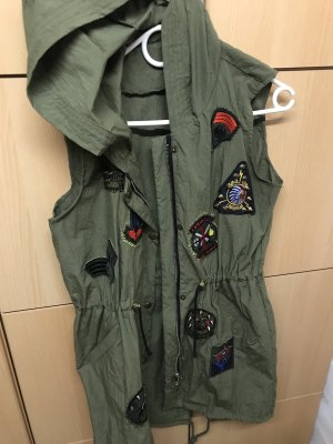 Hooded Vest khaki