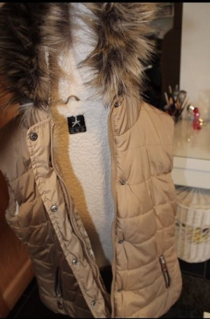 Primark Quilted Gilet white-camel