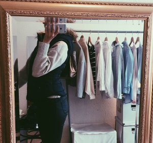 H&M Hooded Vest dark blue