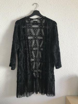 Vero Moda Fringed Vest black