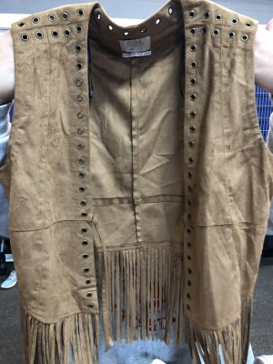 Clockhouse Fringed Vest multicolored