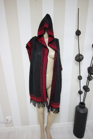 Vest zwart-rood
