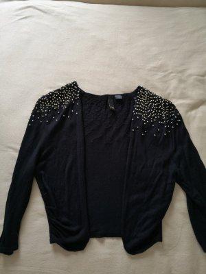 H&M Gilet tricoté noir-doré