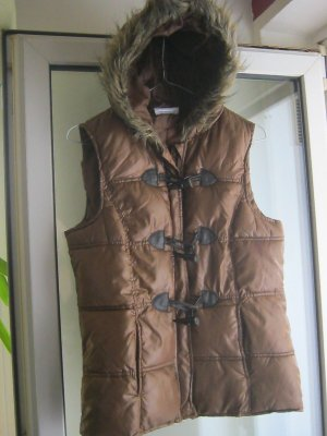 Gina Down Vest cognac-coloured