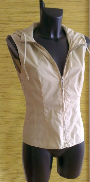Hooded Vest beige synthetic