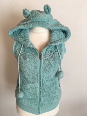 Stitch & Soul Hooded Vest baby blue-turquoise