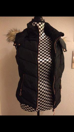 Blind Date Vest van imitatiebont zwart
