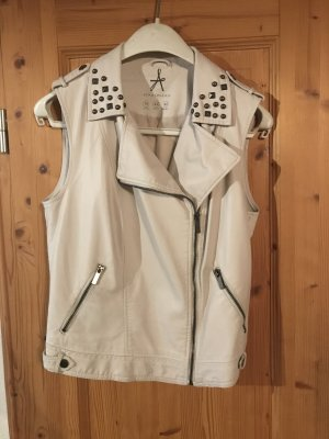 Atmosphere Leather Vest natural white
