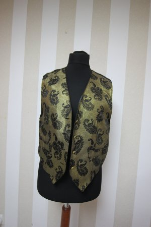 Knitted Vest black-gold-colored