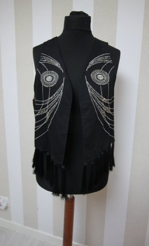 Knitted Vest silver-colored-black