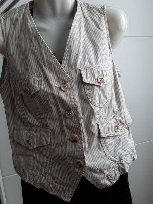 Vestino Smanicato jeans multicolore Cotone