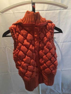 Quilted Gilet orange