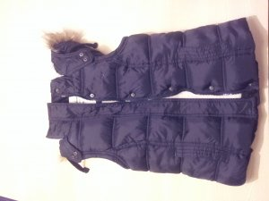 Primark Chaleco con capucha azul oscuro
