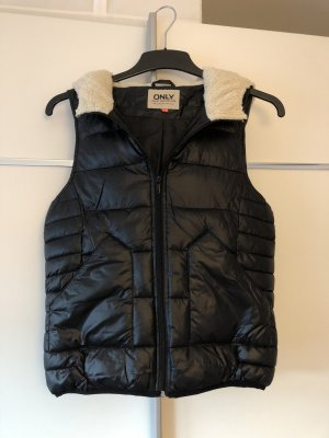 Only Hooded Vest black
