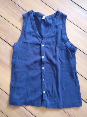 American Apparel Cardigan à manches courtes bleu-bleu foncé coton