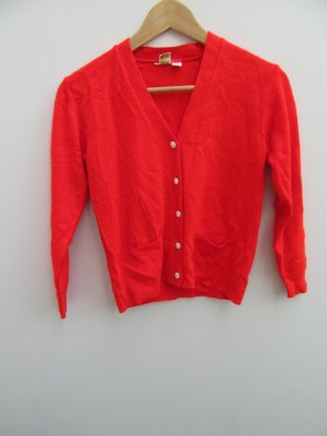 Vintage Chaleco de punto rojo