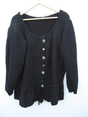 Weste schwarz Tracht Vintage Retro Gr. XL oversize handmade